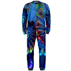 Top Peacock Feathers Onepiece Jumpsuit (men)