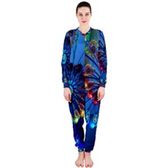 Top Peacock Feathers Onepiece Jumpsuit (ladies)
