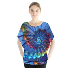 Top Peacock Feathers Blouse