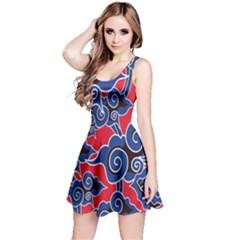 Batik Background Vector Reversible Sleeveless Dress