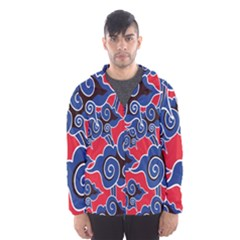 Batik Background Vector Hooded Wind Breaker (men)