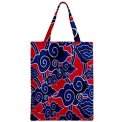 Batik Background Vector Zipper Classic Tote Bag