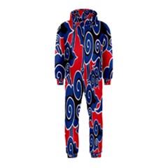 Batik Background Vector Hooded Jumpsuit (kids)