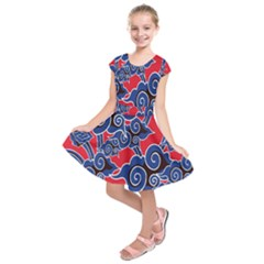 Batik Background Vector Kids  Short Sleeve Dress