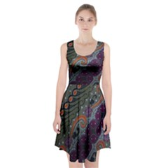 Batik Art Pattern  Racerback Midi Dress