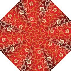 Golden Swirls Floral Pattern Golf Umbrellas