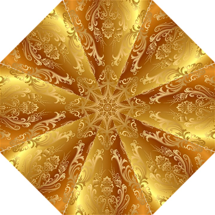 Golden Pattern Vintage Gradient Vector Folding Umbrellas