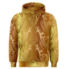 Golden Pattern Vintage Gradient Vector Men s Pullover Hoodie