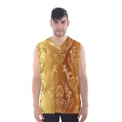 Golden Pattern Vintage Gradient Vector Men s Basketball Tank Top