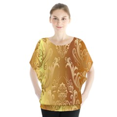 Golden Pattern Vintage Gradient Vector Blouse