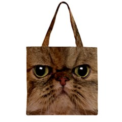 Cute Persian Catface In Closeup Zipper Grocery Tote Bag