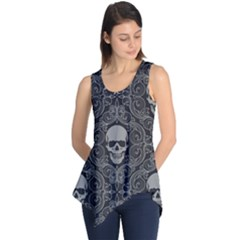 Dark Horror Skulls Pattern Sleeveless Tunic