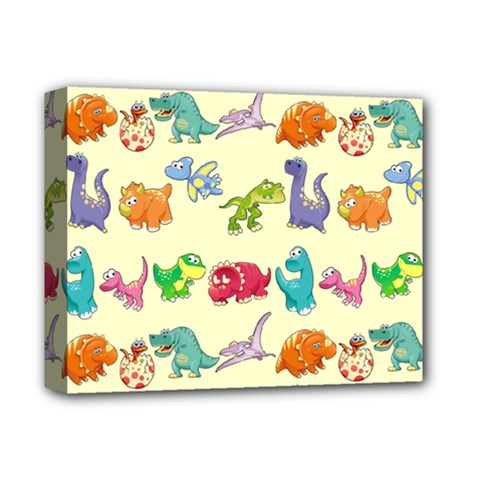 Group Of Funny Dinosaurs Graphic Deluxe Canvas 14  X 11