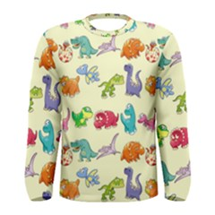 Group Of Funny Dinosaurs Graphic Men s Long Sleeve Tee