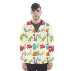 Group Of Funny Dinosaurs Graphic Hooded Wind Breaker (men)