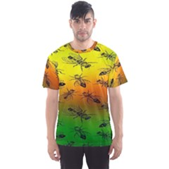 Insect Pattern Men s Sports Mesh Tee