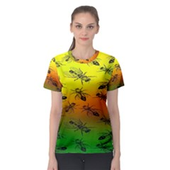 Insect Pattern Women s Sport Mesh Tee