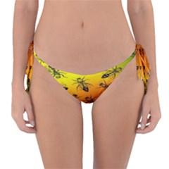 Insect Pattern Reversible Bikini Bottom