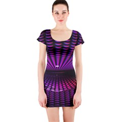 Glass Ball Texture Abstract Short Sleeve Bodycon Dress
