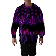 Glass Ball Texture Abstract Hooded Wind Breaker (kids)