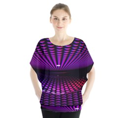 Glass Ball Texture Abstract Blouse