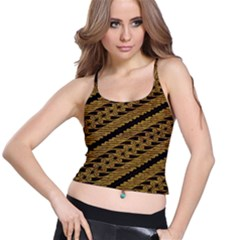 Traditional Art Indonesian Batik Spaghetti Strap Bra Top
