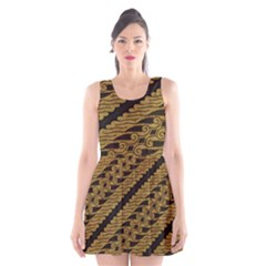 Traditional Art Indonesian Batik Scoop Neck Skater Dress