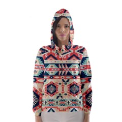 Aztec Pattern Hooded Wind Breaker (women)