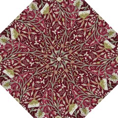 Crewel Fabric Tree Of Life Maroon Folding Umbrellas