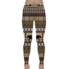 Elephant African Vector Pattern Classic Yoga Leggings