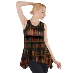 Books Library Side Drop Tank Tunic