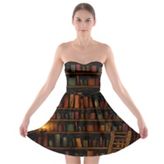 Books Library Strapless Bra Top Dress