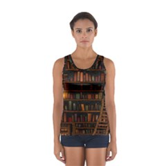 Books Library Sport Tank Top