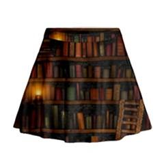 Books Library Mini Flare Skirt