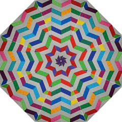 Charming Chevrons Quilt Hook Handle Umbrellas (large)