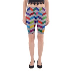 Charming Chevrons Quilt Yoga Cropped Leggings