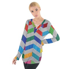 Charming Chevrons Quilt Tie Up Tee
