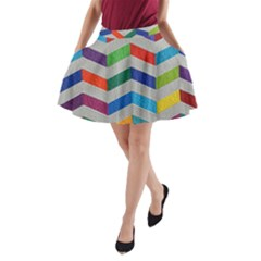 Charming Chevrons Quilt A Line Pocket Skirt