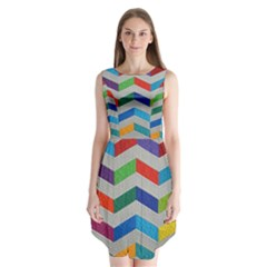 Charming Chevrons Quilt Sleeveless Chiffon Dress