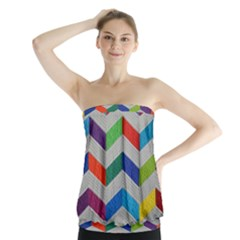 Charming Chevrons Quilt Strapless Top