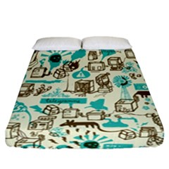 Telegramme Fitted Sheet (california King Size)