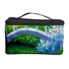 Swan Bird Spring Flowers Trees Lake Pond Landscape Original Aceo Painting Art Cosmetic Storage Case