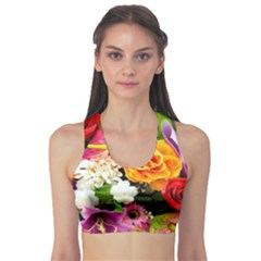 Colorful Flowers Sports Bra