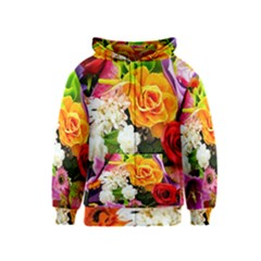 Colorful Flowers Kids  Zipper Hoodie