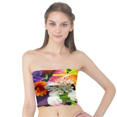 Colorful Flowers Tube Top