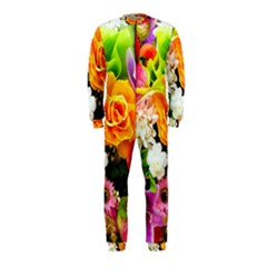 Colorful Flowers Onepiece Jumpsuit (kids)
