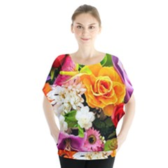 Colorful Flowers Blouse