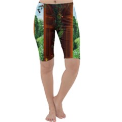 Beautiful World Entry Door Fantasy Cropped Leggings