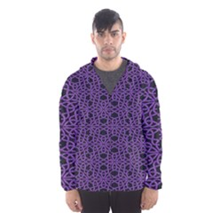 Triangle Knot Purple And Black Fabric Hooded Wind Breaker (men)