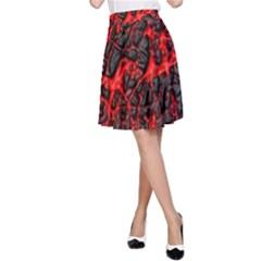 Volcanic Textures  A Line Skirt